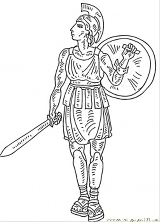 italian gladiator coloring page