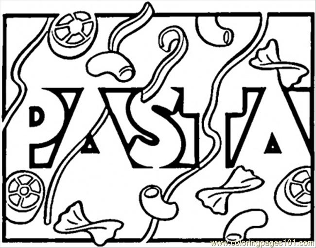 Italian Pasta Coloring Page
