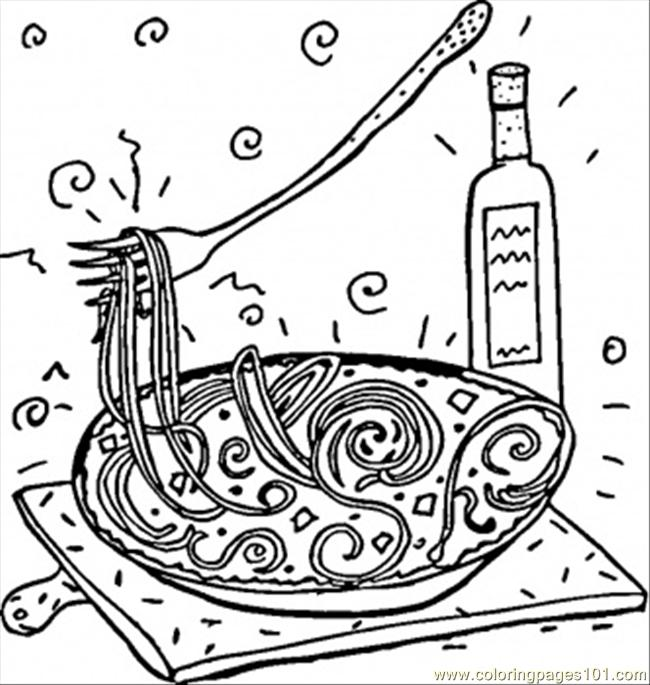 italian spaghetti coloring page free italy coloring