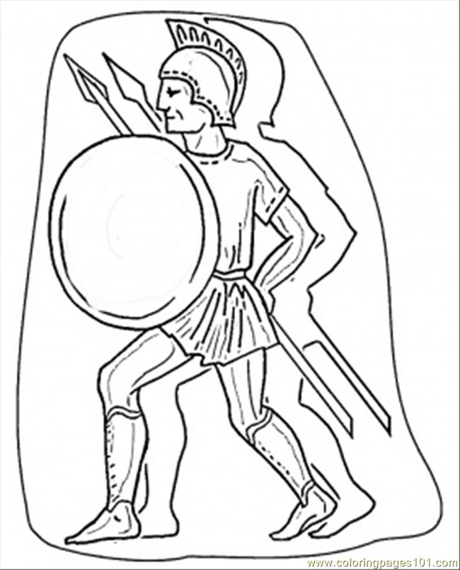 Italian Warrior Coloring Page Free Italy Coloring Pages
