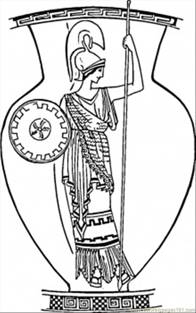 Old Roman Vase Coloring Page