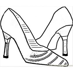 Italian Shoes Free Coloring Page for Kids