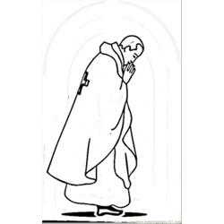 Pope Of Vatican Free Coloring Page for Kids