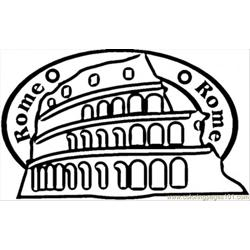 Rome Free Coloring Page for Kids