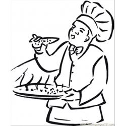 Italian Food Free Coloring Page for Kids