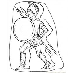 More Italy Coloring Pages Italian Warrior