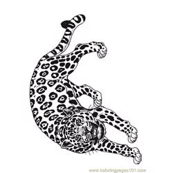 Coloring Jaguar Reverse Free Coloring Page for Kids