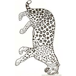 Leopard Reversed Free Coloring Page for Kids