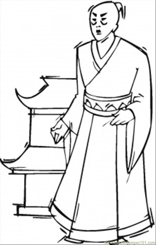 Japanese Man Coloring Page