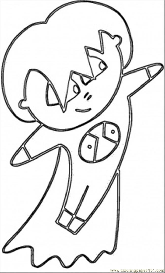 Anime Japanese Coloring Page