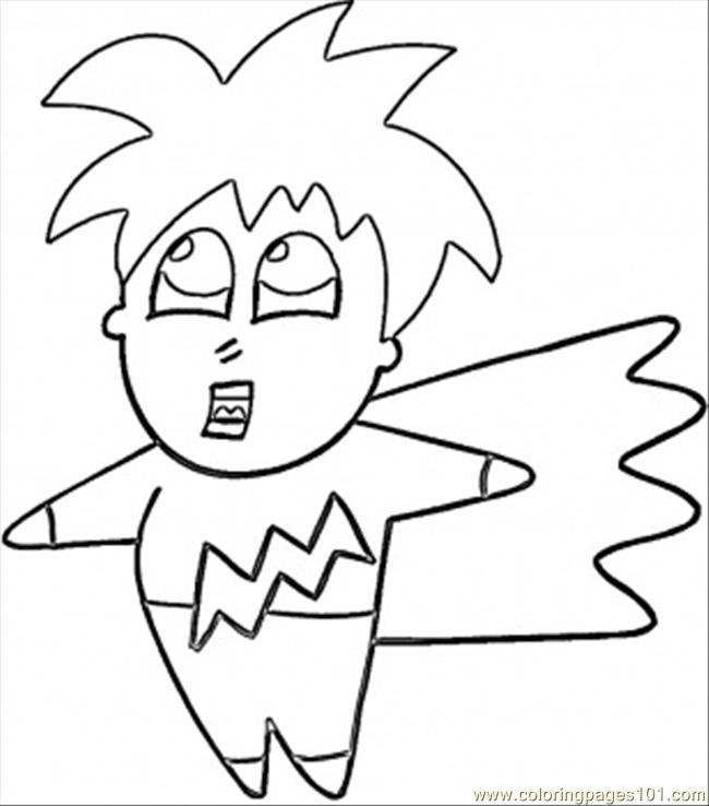 Anime Japanese Boy Coloring Page