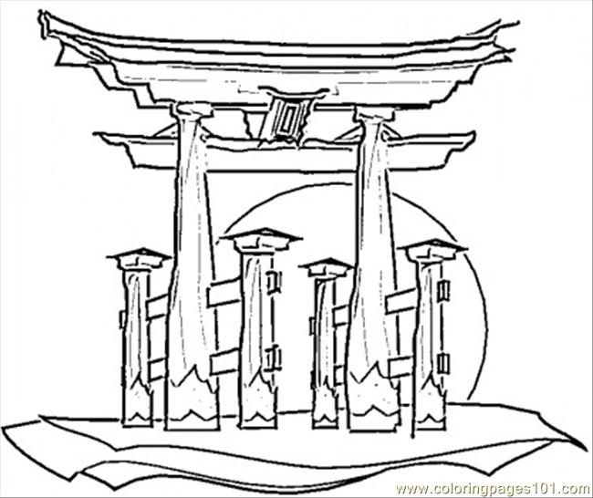 Japanese House Coloring Page - Free Japan Coloring Pages ...