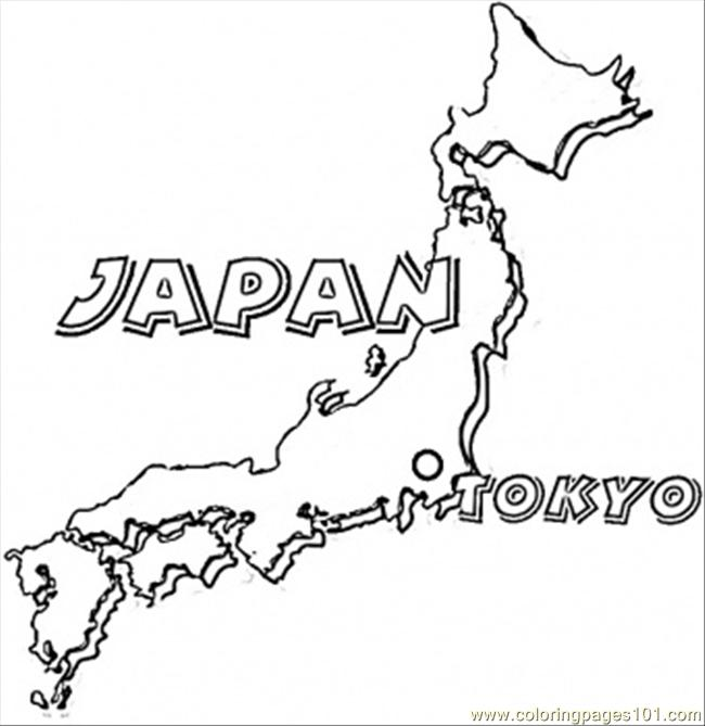 Map Of Japan Coloring Page Free Japan Coloring Pages - Japan map download pdf