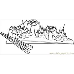 Sushi Japanese Food Free Coloring Page for Kids