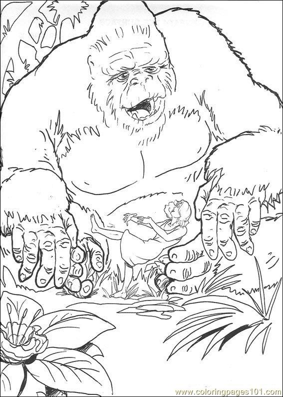 King Kong 10 Coloring Page