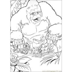 King Kong (10) Free Coloring Page for Kids