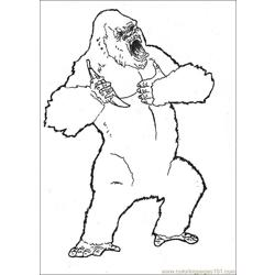 King Kong (15) Free Coloring Page for Kids
