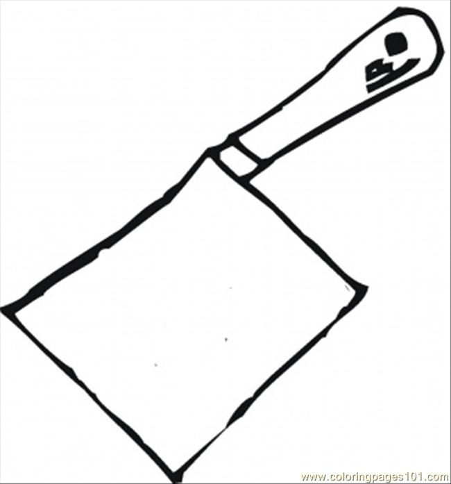 Butcher Knife Coloring Page Free Kitchenware Coloring Pages ColoringPages101