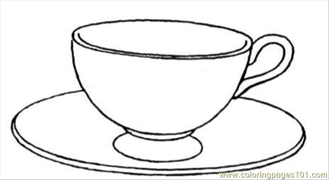 Glass Cup Coloring Page White And Black Glass ...