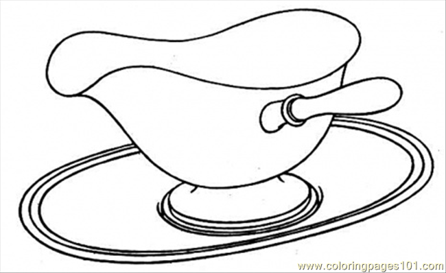 Dish Coloring Page