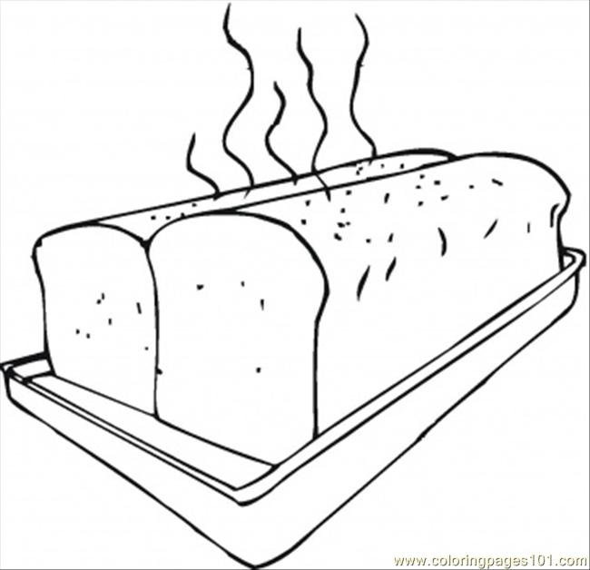 Fresh Bread On Baking Sheet Coloring Page