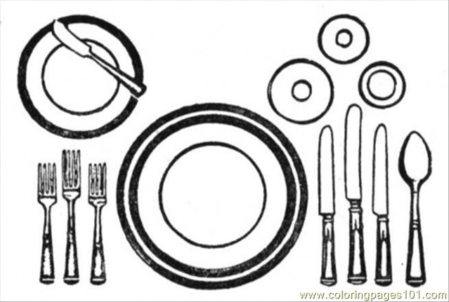 table setting coloring pages - photo #4