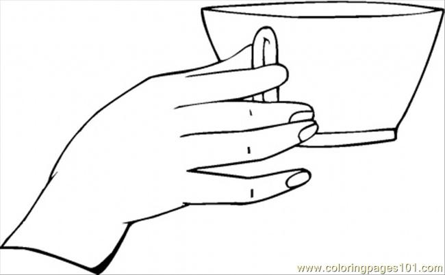 Good Table Manner Coloring Page