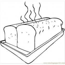 Fresh Bread On Baking Sheet Free Coloring Page for Kids