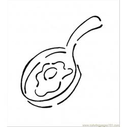 Frying Pan With Egg Free Coloring Page for Kids