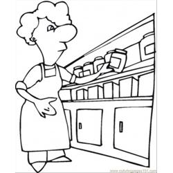 Kitchen Containers Free Coloring Page for Kids