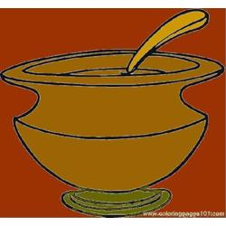Soup Dish Free Coloring Page for Kids