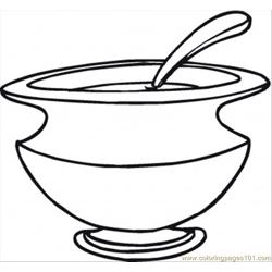 Soup Dish coloring page