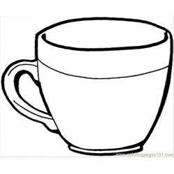 Teacup Free Coloring Page for Kids