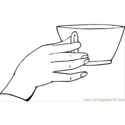 Good Table Manner Free Coloring Page for Kids