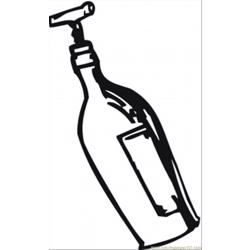 Opening Wine With Corkscrew Free Coloring Page for Kids