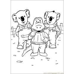 Koala Brothers 30 Free Coloring Page for Kids
