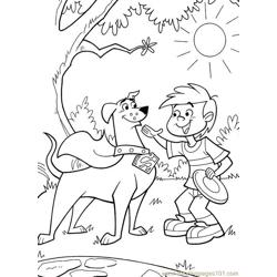 Krypto3 Free Coloring Page for Kids