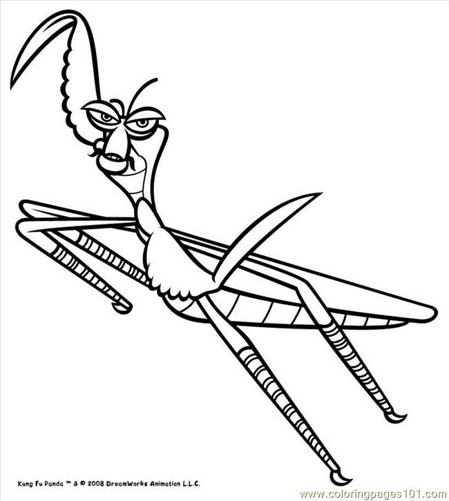 Kung fu panda mantis coloring pages - crazywidow.info