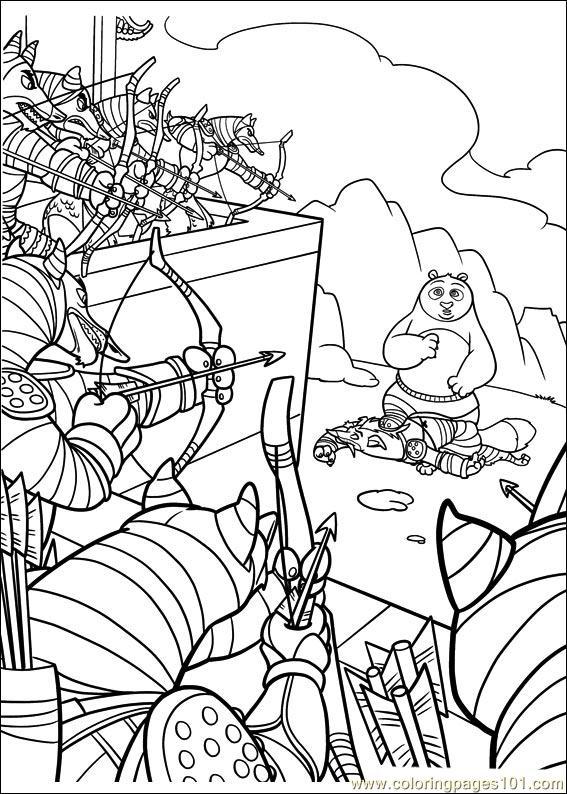 Kung Fu Panda 2 32 Coloring Page