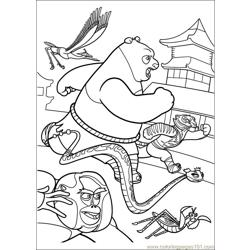 Kung Fu Panda 2 13 Free Coloring Page for Kids