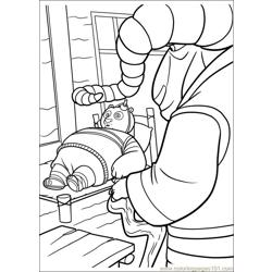 Kung Fu Panda 2 16 Free Coloring Page for Kids