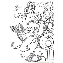 Kung Fu Panda 2 21 Free Coloring Page for Kids