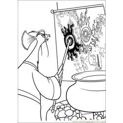Kung Fu Panda 2 22 Free Coloring Page for Kids