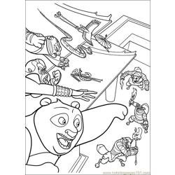 Kung Fu Panda 2 25 Free Coloring Page for Kids