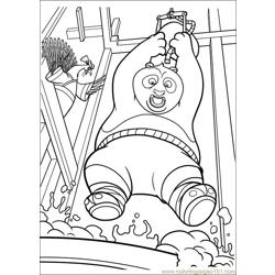 Kung Fu Panda 2 27 Free Coloring Page for Kids