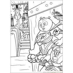 Kung Fu Panda 2 29 Free Coloring Page for Kids