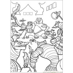 Kung Fu Panda 2 31 Free Coloring Page for Kids