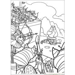 Kung Fu Panda 2 32 Free Coloring Page for Kids
