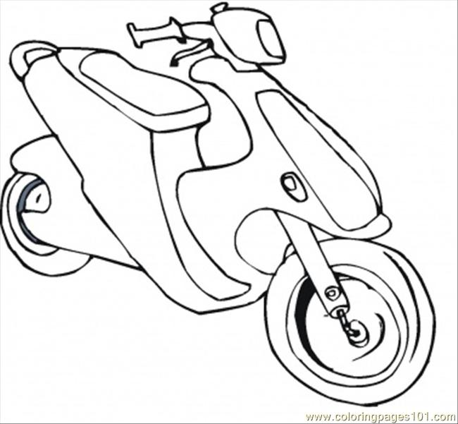 Bike Coloring Page Coloring Page