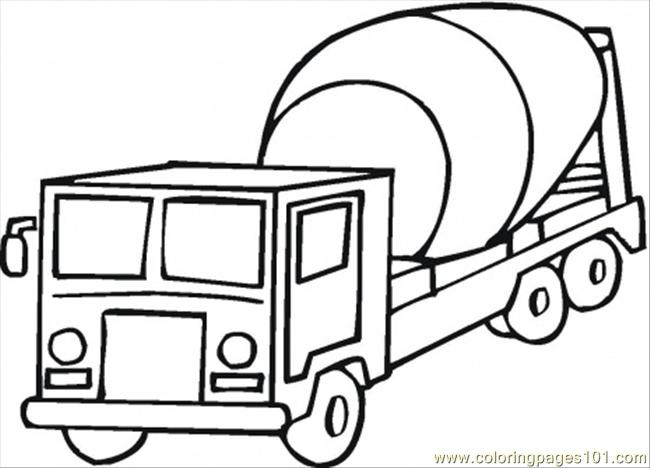 Cement Mixer Coloring Page Coloring Page